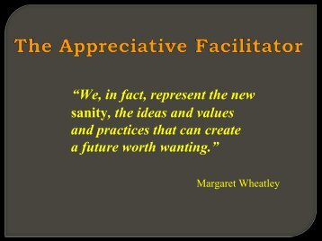 The Appreciative Facilitator - Office of Human Resource Development
