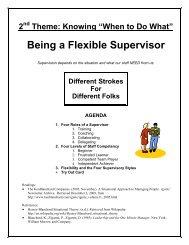 Being a Flexible Supervisor