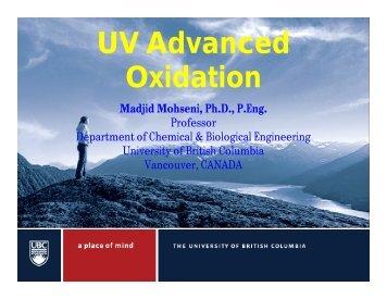 UV Advanced Oxidation