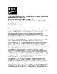 Allocution à la Maritimes Energy Association - CIBC.com