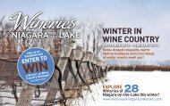 WINTER IN WINE COUNTRY - Wineries of Niagara-on-the-Lake