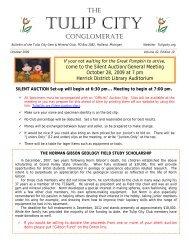 Oct - the Tulip City Gem & Mineral Club