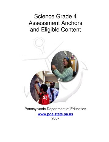 Science Grade 4 Assessment Anchors and Eligible Content - SAS