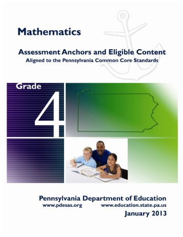 Grade 4 Mathematics Assessment Anchors and Eligible Content