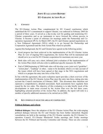 EU-Ukraine Relations - the European External Action Service