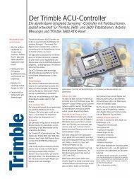 Der Trimble ACU-Controller - Planungsbüro Kellner GmbH