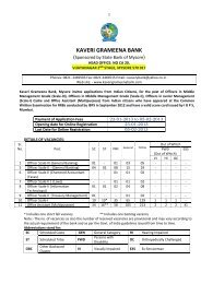 KAVERI GRAMEENA BANK - PT education
