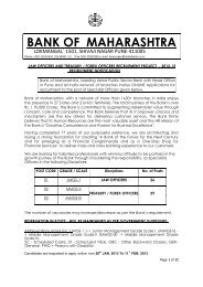BANK OF MAHARASHTRA - PT education