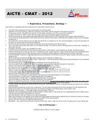CMAT Analysis - PT education