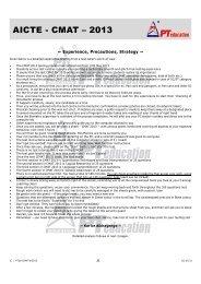 CMAT May 2013 Analysis - PT education