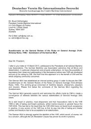 Reply by MLA Germany - Comite Maritime International