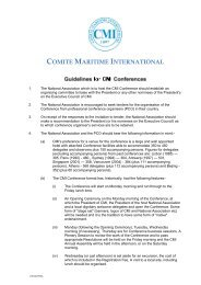 Guidelines for Conferences - Comite Maritime International