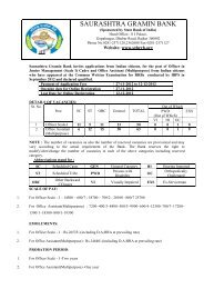 SAURASHTRA GRAMIN BANK - PT education