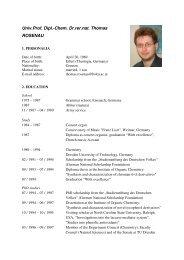 Univ.Prof. Dipl.-Chem. Dr.rer.nat. Thomas ROSENAU