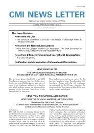 Newsletter 1 - Comite Maritime International