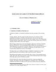 limitation of liability in the rotterdam rules - Comite Maritime ...