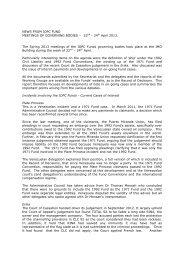 News from IOPC Fund Meetings 22 - Comite Maritime International