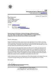 Reply by IUMI - Comite Maritime International