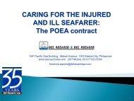 The POEA contract - Comite Maritime International