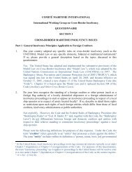 Reply by the US MLA - Comite Maritime International
