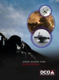 USER GUIDE FOR DCO PORTAL - Marine Corps Base Quantico