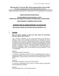 Reply of Germany - Comite Maritime International