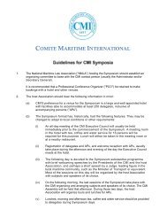 the Guidelines for Symposia - Comite Maritime International