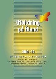 Utbildning på Åland - Ålands landskapsregering