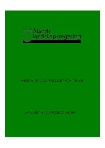 2007 - Ålands landskapsregering