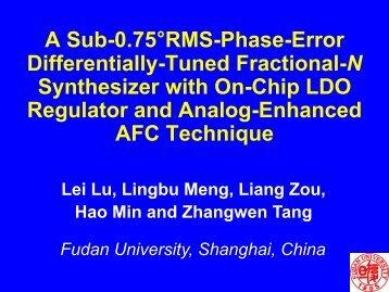 Presentation PPT File - RFIC Group @ Fudan University