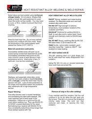 Welding & Weld Repair [Heat Resistant Alloys ... - Rolled Alloys