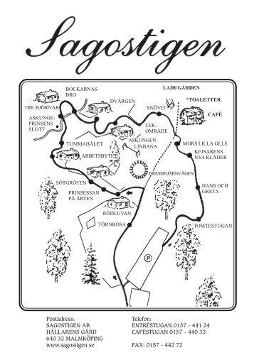 Områdeskarta och svenska sagor - Sagostigen