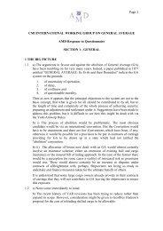 Reply by AMD - Comite Maritime International