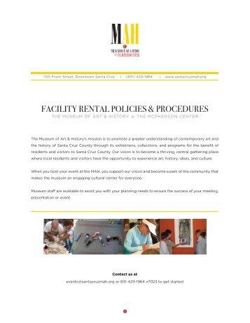 facility rental policies & procedures - Santa Cruz Museum of Art and ...