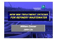New WW Treatment Options for Refinery Wastewater