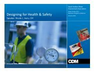 Designing for Health and Safety - Saudi Arabian Water Environment ...