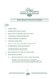 Download a complete Fact Finder for Royal Swazi Spa - 3MB PDF