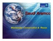 Saudi Aramco Wastewater Conservation & Reuse
