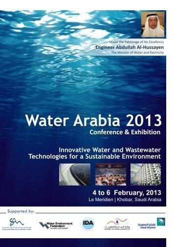 Water Arabia 2013 Conference and Exhibition - Saudi Arabian ...