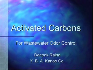Activated Carbons For Wastewater Odor Control