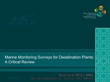 Marine Monitoring Surveys for Desalination Plants: A Critical Review
