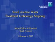 Saudi Aramco Technology Mapping for Water Desalination