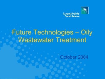 Future Technologies - Oily Wastewater Treatment