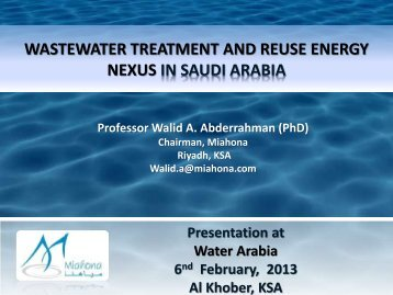 wastewater treatment and reuse energy nexus in saudi arabia