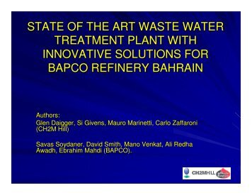 state of the art waste water treatment plant with innovative solutions ...