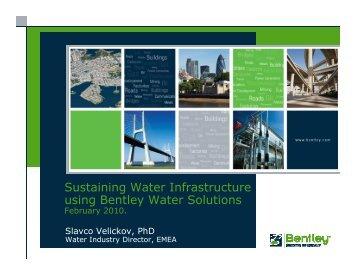 Sustaining Water Infrastructure using Bentley Water Solutions