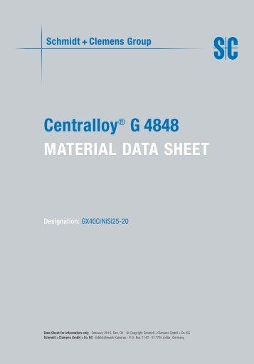 Centralloy® G 4848 - Schmidt+Clemens
