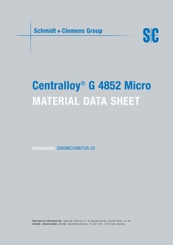 Centralloy® G 4852 Micro - Schmidt+Clemens