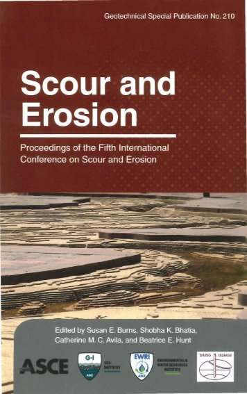 Content and Index - Scour and Erosion
