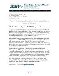 (BSSA)! - Seismological Society of America